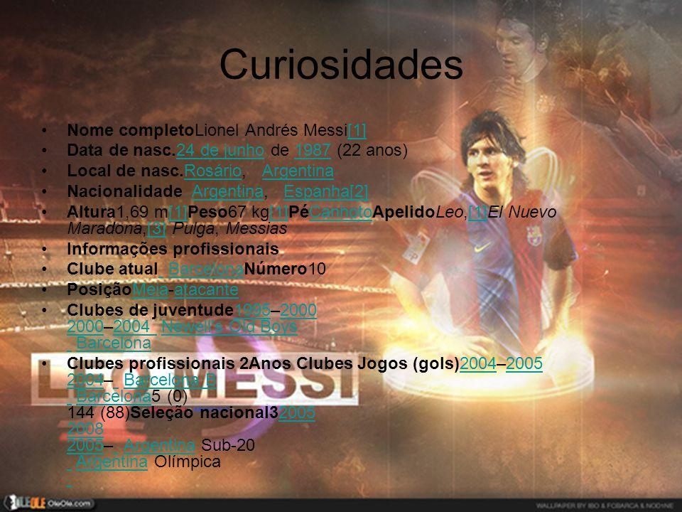 Curiosidades Nome completoLionel Andrés Messi[1]
